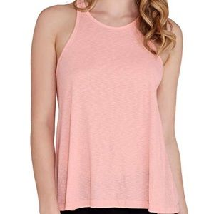 Free People Pink Long Beach Slub Tank